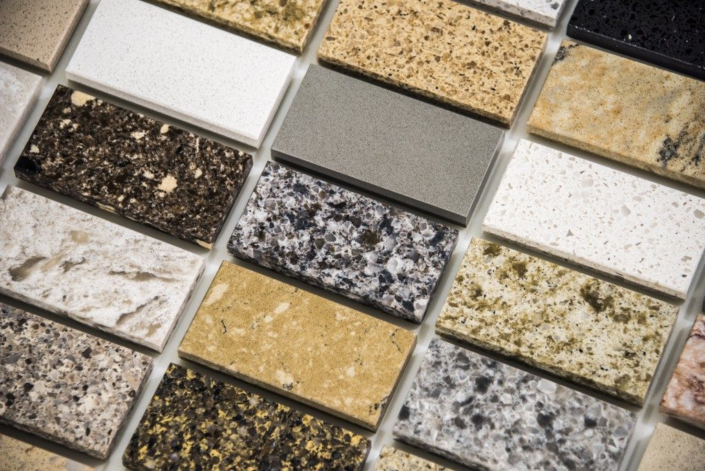 Countertop and tiles samples