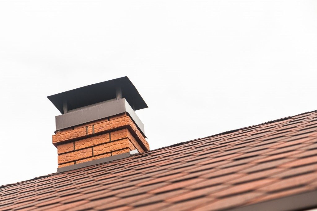 roof with chimney cap