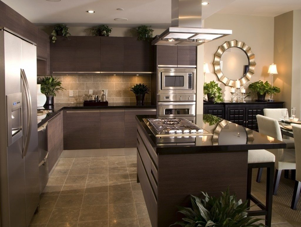 brown kitchen interior design