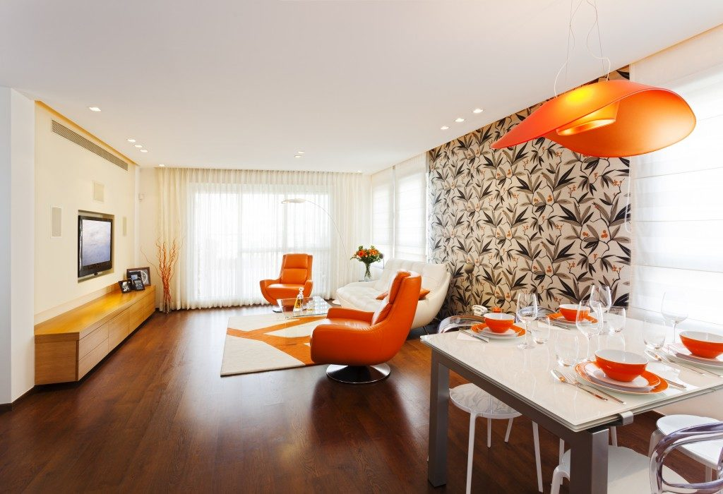 Room with orange theme