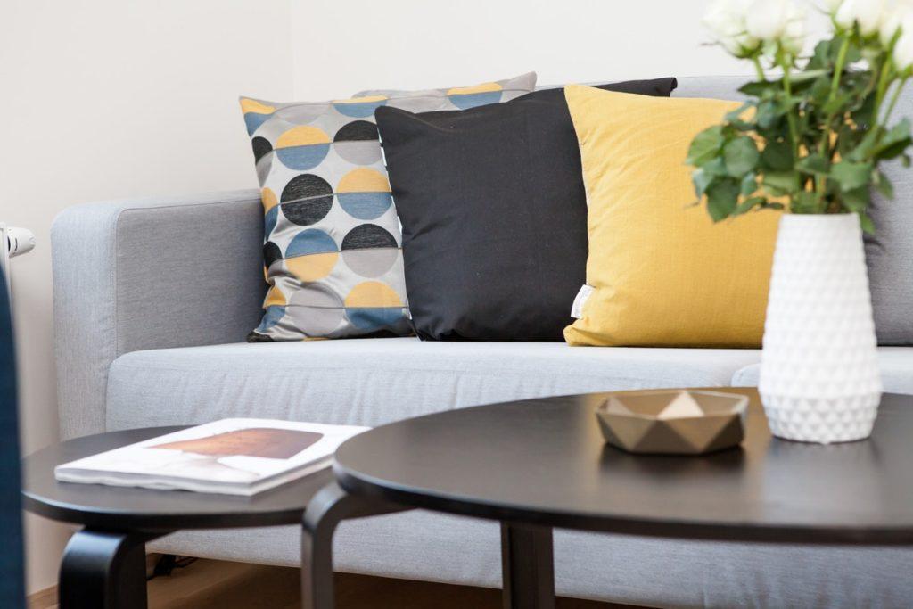 sofa and decor