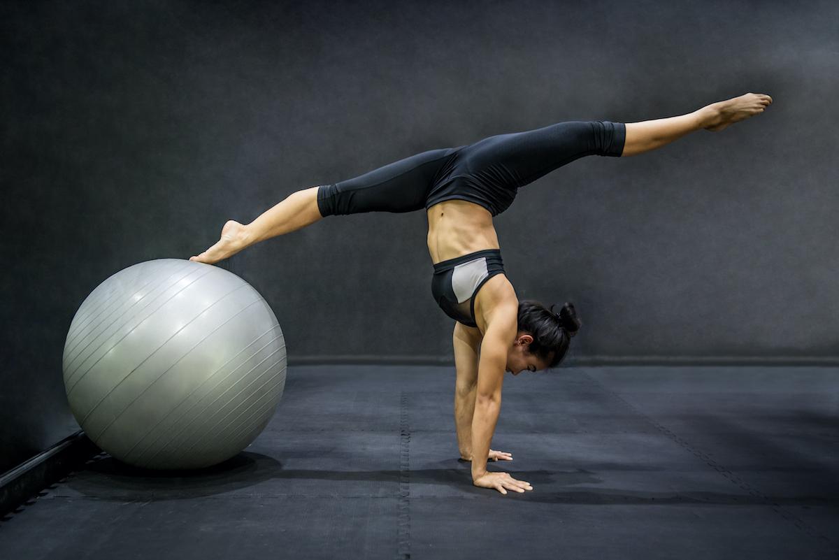 woman showing flexibility