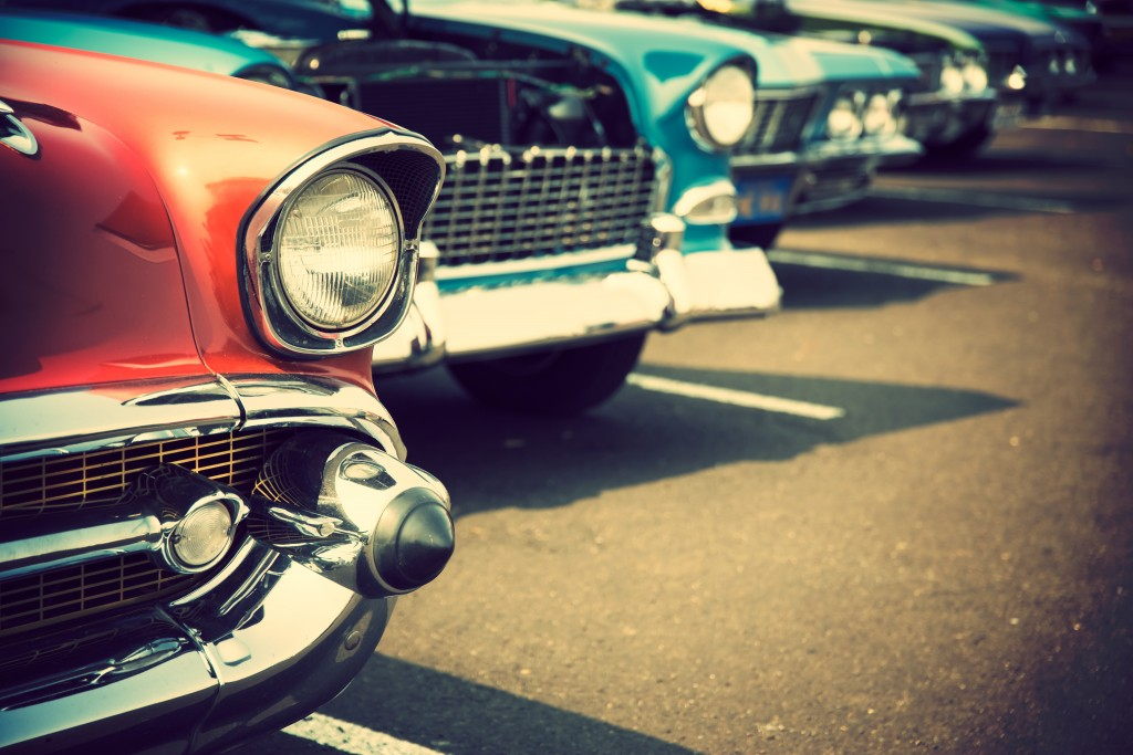 front end of classic cars