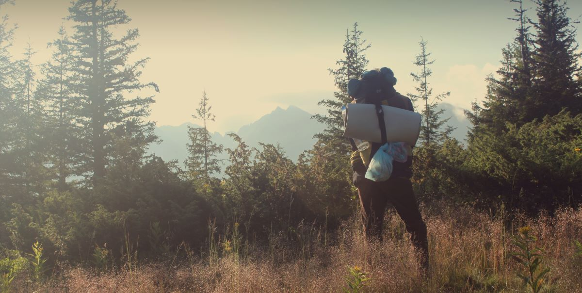 backpacking in the wilderness