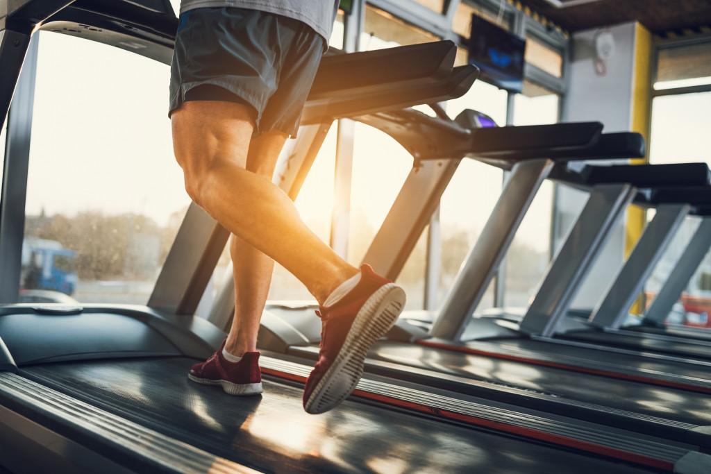 running on a tredmill