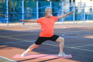 50s man exercising