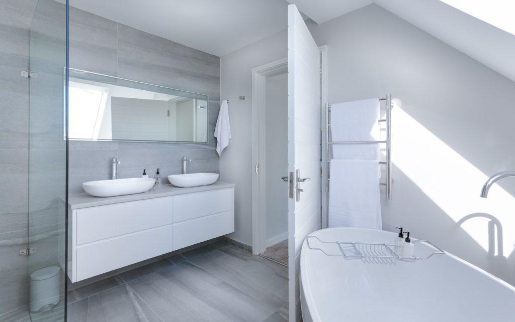 bathroom with light