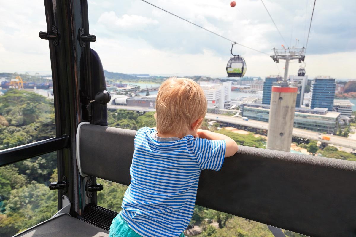 Ferris wheel ride in Singapore