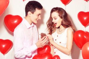valentines date couple