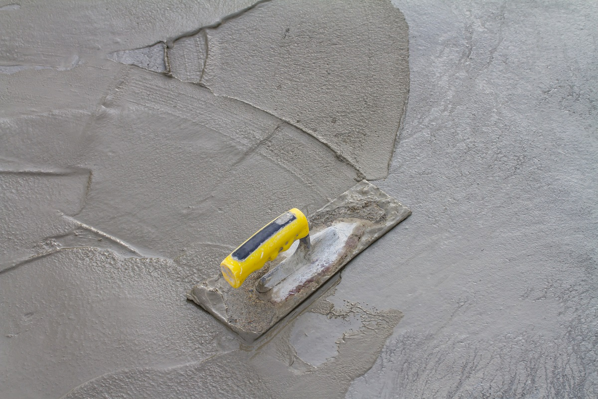 wet concrete