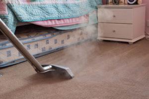 steaming carpet